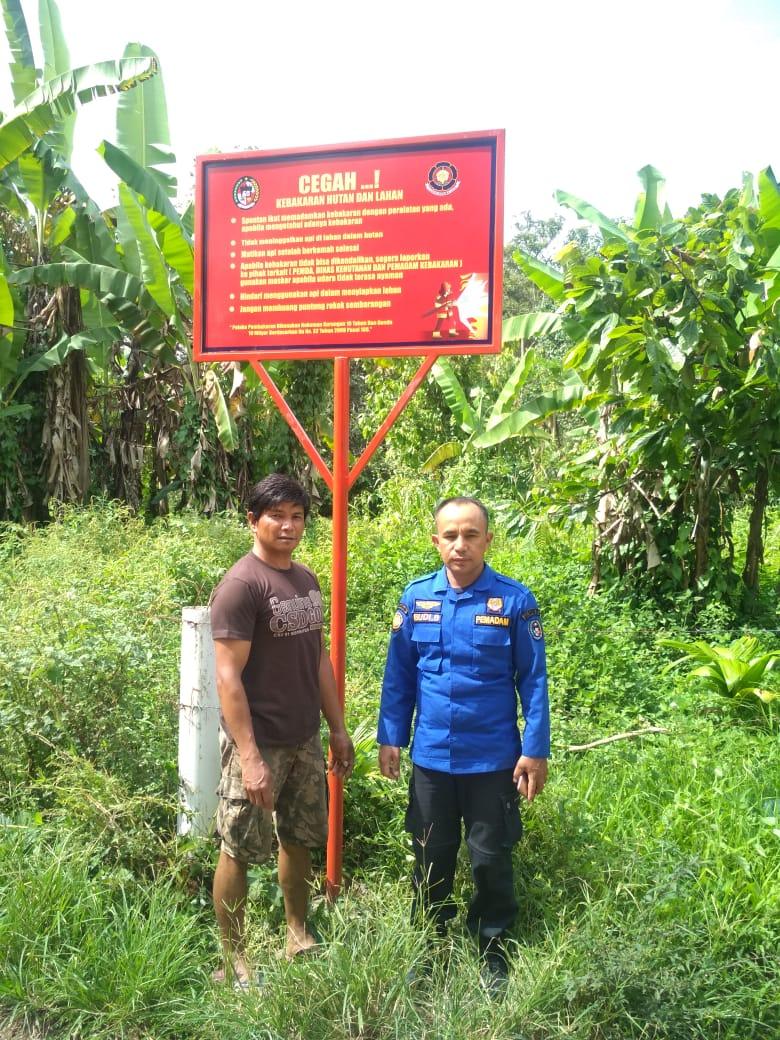 Pemasangan Plang Pencegahan bahaya Kebakaran